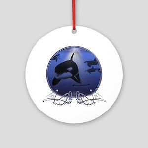 Killer Whale Ornament (Round)