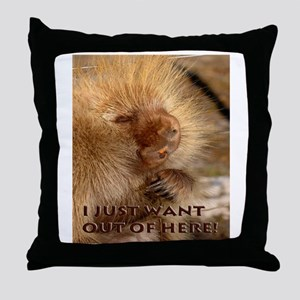 I Want Out Throw Pillow