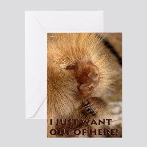 I Want Out Greeting Card
