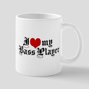 I Love My Bass Player Mug