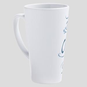 Umsted Design Be The Change You Wa 17 oz Latte Mug