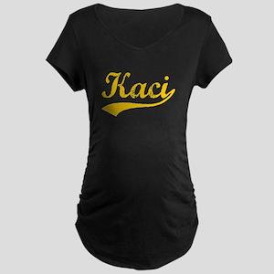 Vintage Kaci (Orange) Maternity Dark T-Shirt