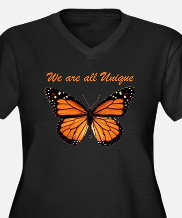 We Are All Unique: Butterfly Women's Plus Size V-N