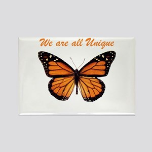 We Are All Unique: Butterfly Rectangle Magnet