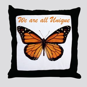 We Are All Unique: Butterfly Throw Pillow