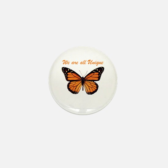 We Are All Unique: Butterfly Mini Button