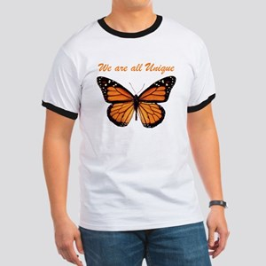 We Are All Unique: Butterfly Ringer T