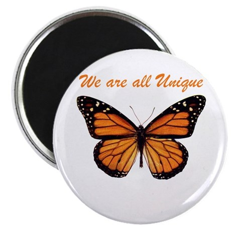 We Are All Unique: Butterfly Magnet