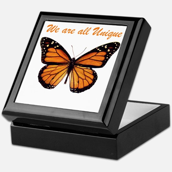 We Are All Unique: Butterfly Keepsake Box