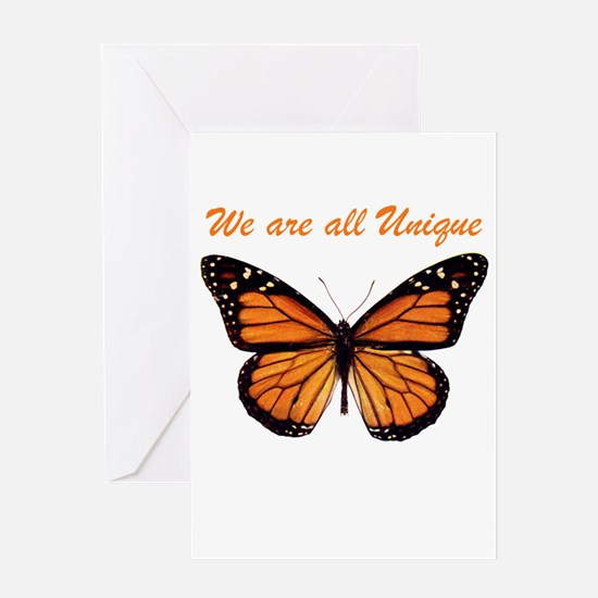 We Are All Unique: Butterfly Greeting Card