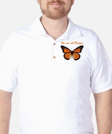 We Are All Unique: Butterfly Golf Shirt