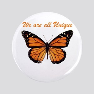 "We Are All Unique: Butterfly 3.5"" Button"