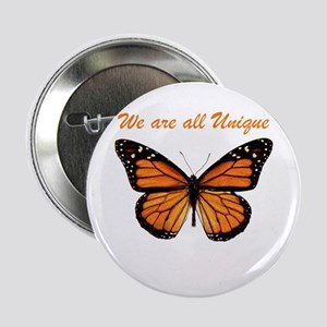 "We Are All Unique: Butterfly 2.25"" Button"