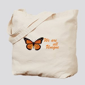 Butterfly: Side Inscription Tote Bag