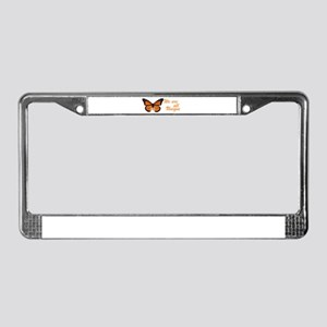 Butterfly: Side Inscription License Plate Frame