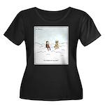 Curiosit Women's Plus Size Scoop Neck Dark T-Shirt