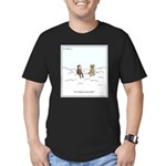 Curiosity Killed The C Men's Fitted T-Shirt (dark)