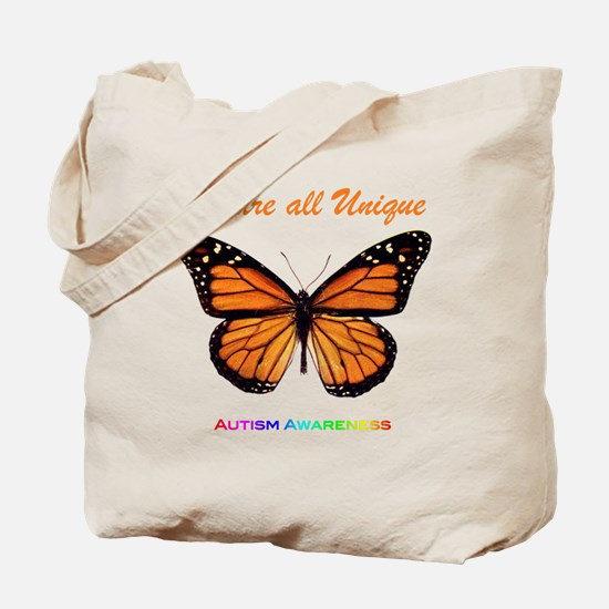 Butterfly: Autism Awareness Tote Bag