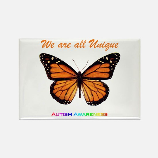 Butterfly: Autism Awareness Rectangle Magnet