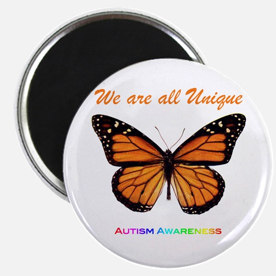 "Butterfly: Autism Awareness 2.25"" Magnet (10"
