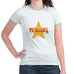 M Diddy Gold Star Jr. Ringer T-Shirt