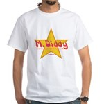 M Diddy Gold Star White T-Shirt