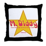 M Diddy Gold Star Throw Pillow
