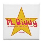 M Diddy Gold Star Tile Coaster
