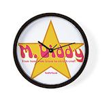 M Diddy Gold Star Wall Clock