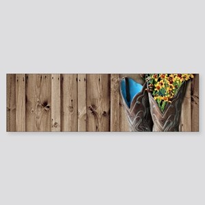 barnwood cowboy boots country Bumper Sticker