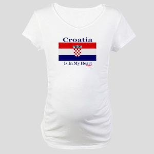 Croatia - Heart Maternity T-Shirt