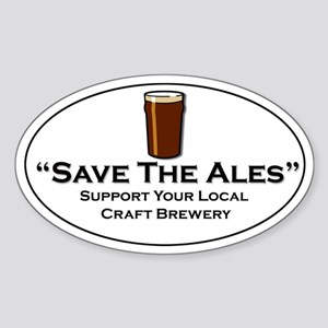 Save the Ales Oval Sticker