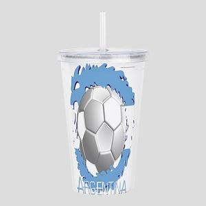 Soccer Dragon Argentina Acrylic Double-wall Tumble