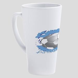 Soccer Dragon Argentina 17 oz Latte Mug