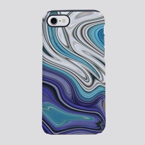 abstract blue marble swirls iPhone 8/7 Tough Case