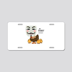 Mr Robot Chicken Aluminum License Plate