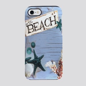 coastal nautical seashells b iPhone 8/7 Tough Case