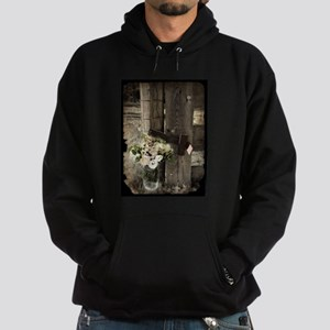 farm fence country flower Sweatshirt