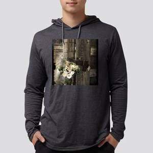farm fence country flower Long Sleeve T-Shirt