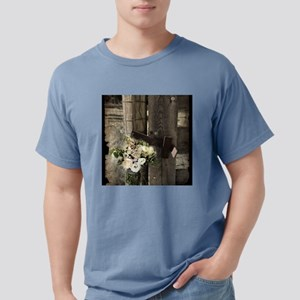 farm fence country flower T-Shirt