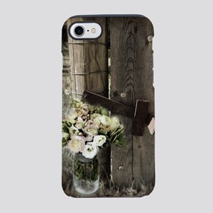 farm fence country flower iPhone 8/7 Tough Case