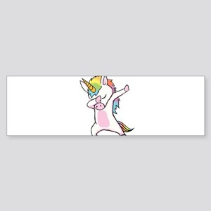 Unicorn Dabbing Bumper Sticker