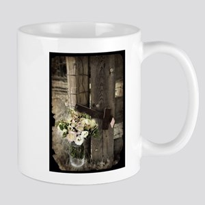 farm fence country flower Mugs