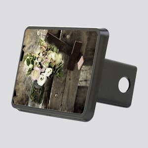 farm fence country flower Rectangular Hitch Cover