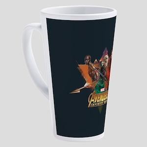 Avengers Infinity War Lineup 17 oz Latte Mug