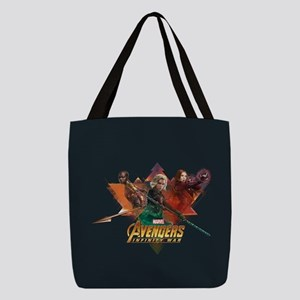 Avengers Infinity War Lineup Polyester Tote Bag