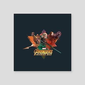 "Avengers Infinity War Lineu Square Sticker 3"" x 3"""