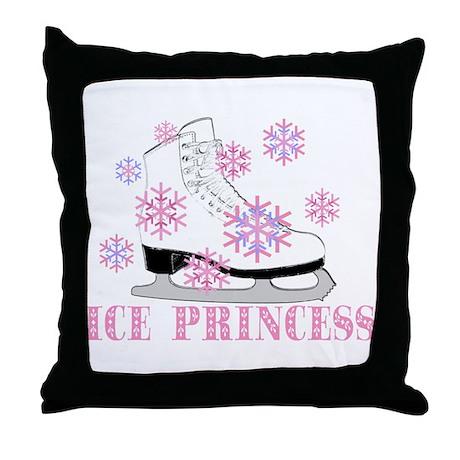 Ice Princess Pink Skate Throw Pillow