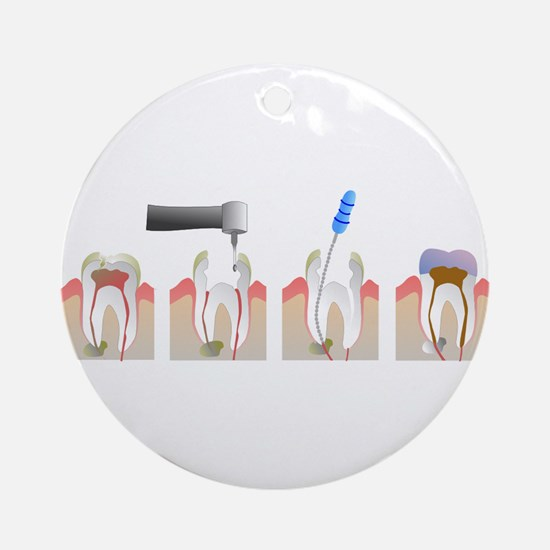 Root Canal Round Ornament