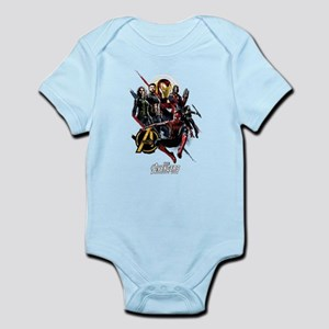 Avengers Infinity War Fight Baby Light Bodysuit